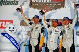 プチ・ル・マンでGTLMクラス2位となったオリバー・ギャビン、マルセル・ファスラー、トミー・ミルナー組