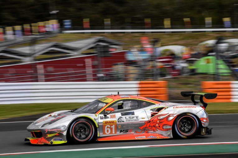 最後のWEC富士をクラス7位で終えたクリアウォーター・レーシングの61号車フェラーリ488 GTE