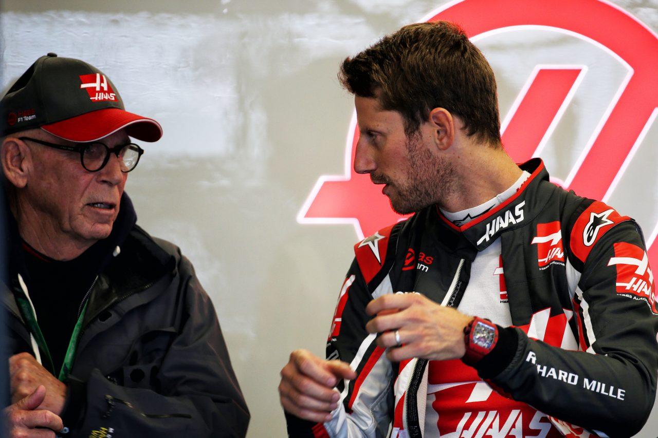 2018年F1アメリカGPでのグロージャン