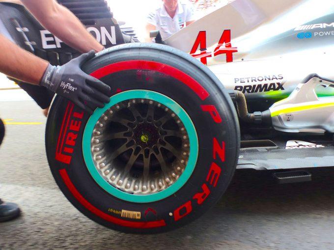 2018年F1第13戦ベルギーGPから投入されたメルセデスの新型リヤホイール