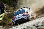 ラリー/WRC | WRCスペイン:競技2日目、トヨタのタナクが総合首位浮上。ラトバラはパンクの不運