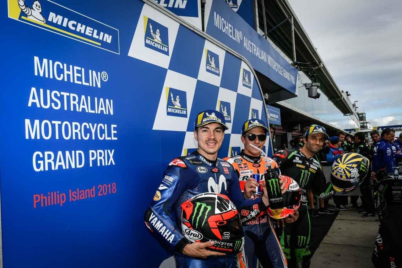 MotoGP:マルケス「恐怖のコンディションだった」/オーストラリアGP予選トップ3コメント