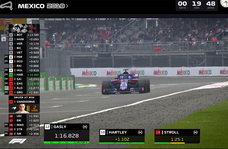【動画】F1第19戦メキシコGP予選ハイライト
