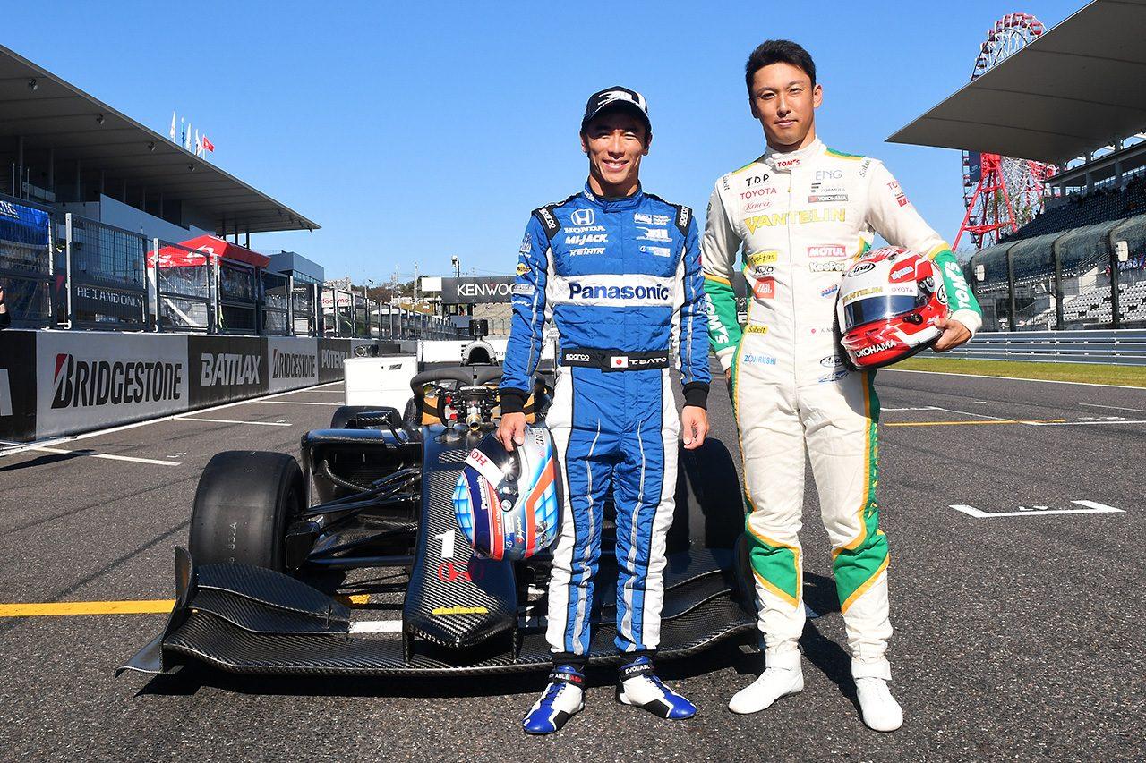 佐藤琢磨&中嶋一貴のふたりがスーパーフォーミュラ新車SF19でデモラン「感触はすごくいい!」