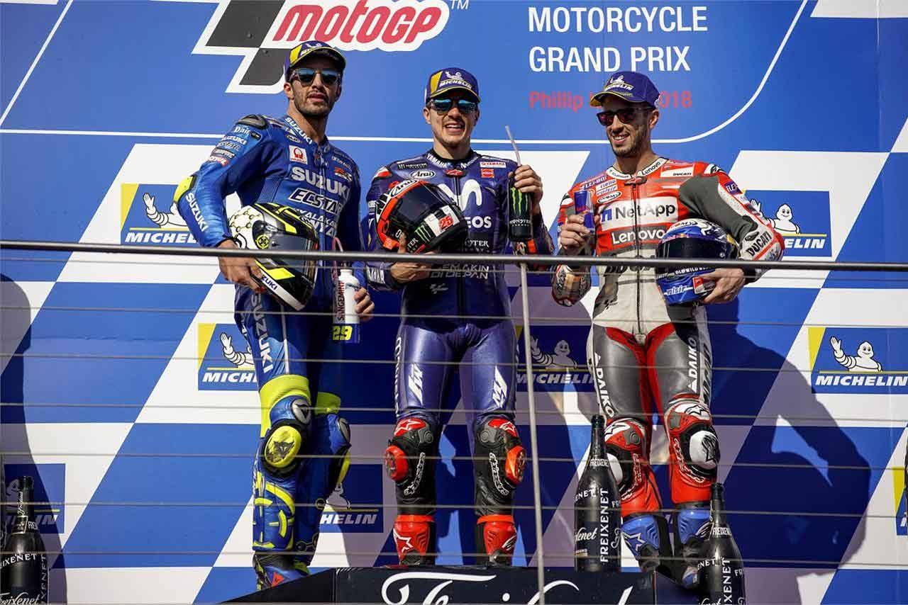 MotoGP:ビニャーレス「信じられない勝利だよ」/オーストラリアGP決勝トップ3コメント