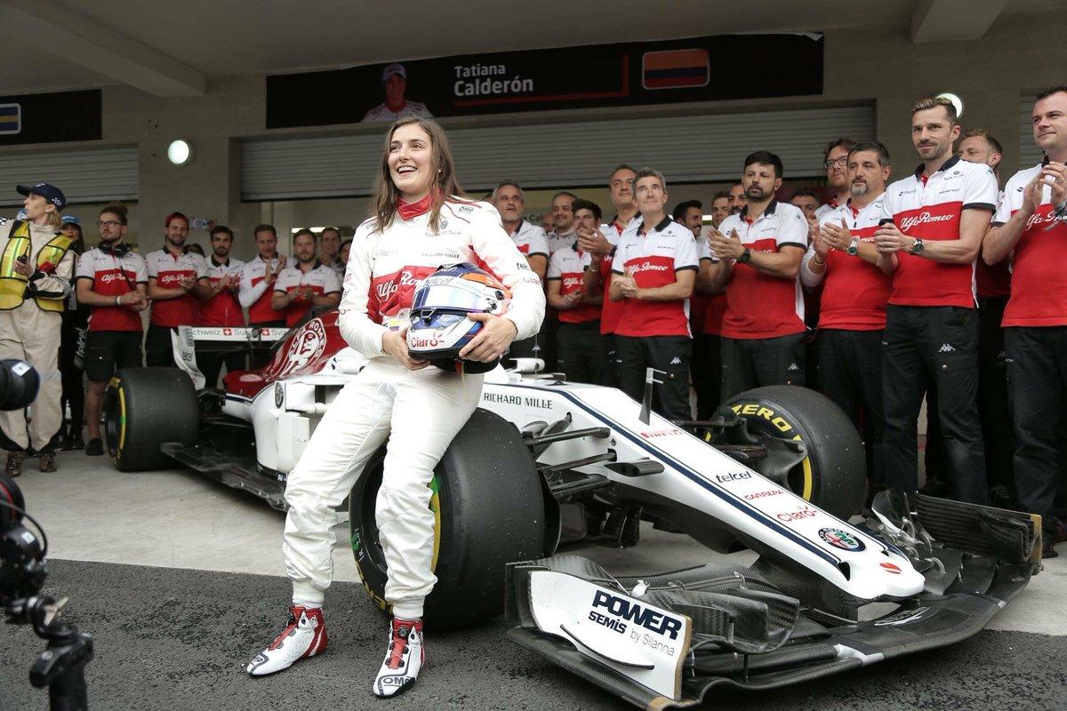 タチアナ・カルデロンがF1初走行