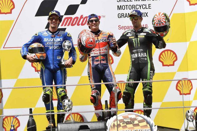 2018MotoGP第18戦マレーシアGP 決勝トップ3