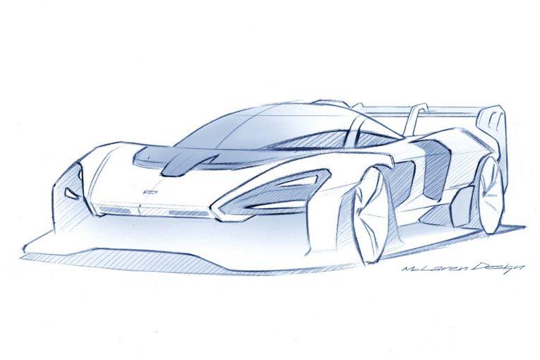 マクラーレンが公開した『マクラーレン・セナGTR』のデザインスケッチ