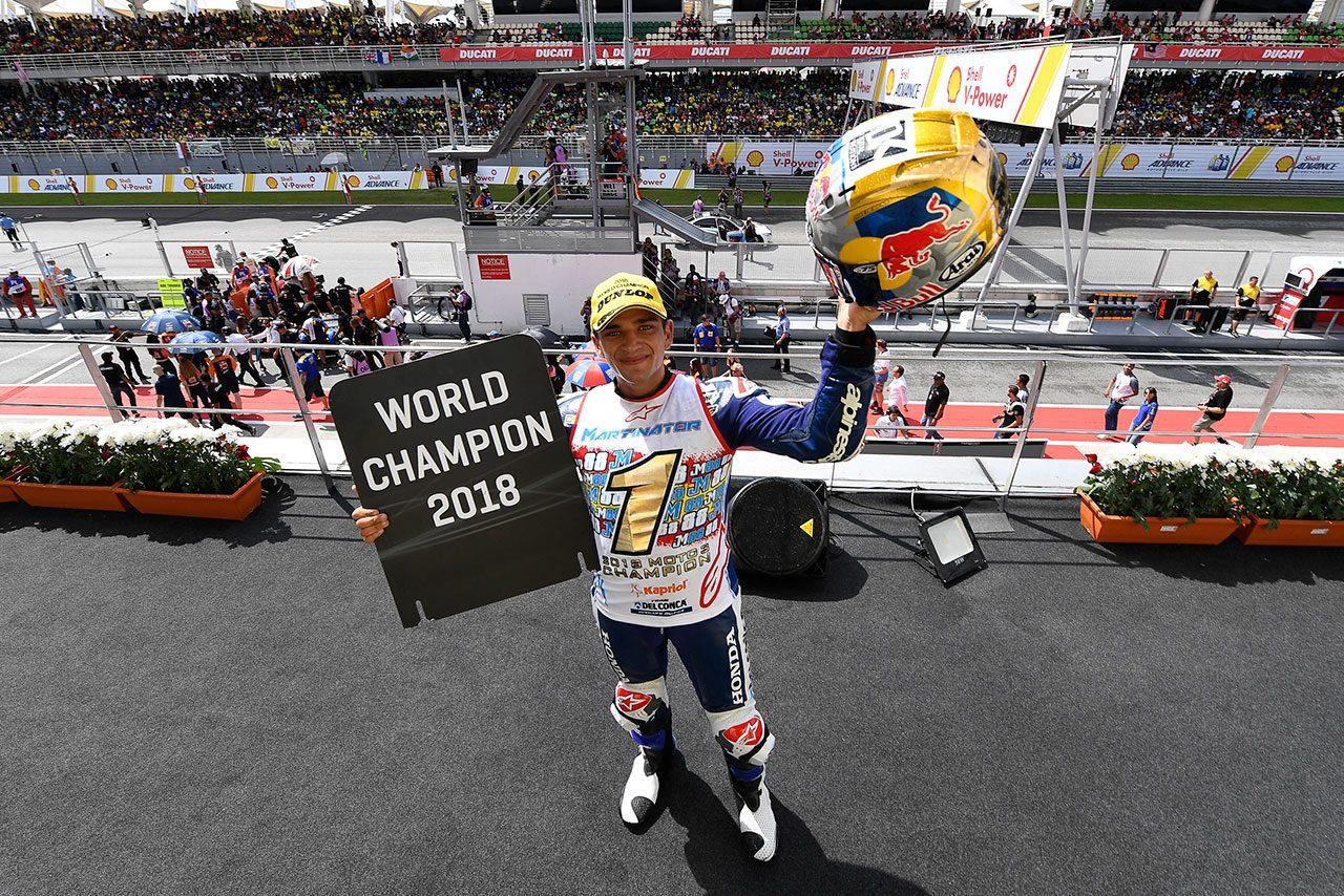 MotoGP:Moto3クラスはホルヘ・マルティンが2018年王者に。ホンダは2年連続18回目の戴冠
