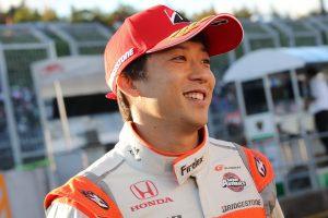 ポールポジションを獲得したARTA NSX-GTの伊沢拓也