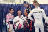 F1 | 勝利を失ったフェルスタッペン、オコンを小突いてペナルティ。接触への怒り抑えられず