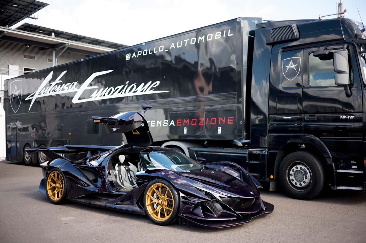 世界に10台のハイパーカー『アポロIE』日本初上陸。鈴鹿サウンド・オブ・エンジンで走行披露へ