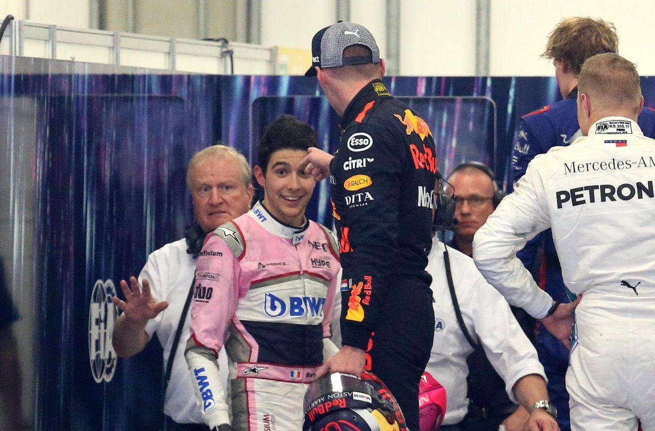 2018年F1第20戦ブラジルGP マックス・フェルスタッペン(レッドブル)とエステバン・オコン(フォース・インディア)がレース後に口論