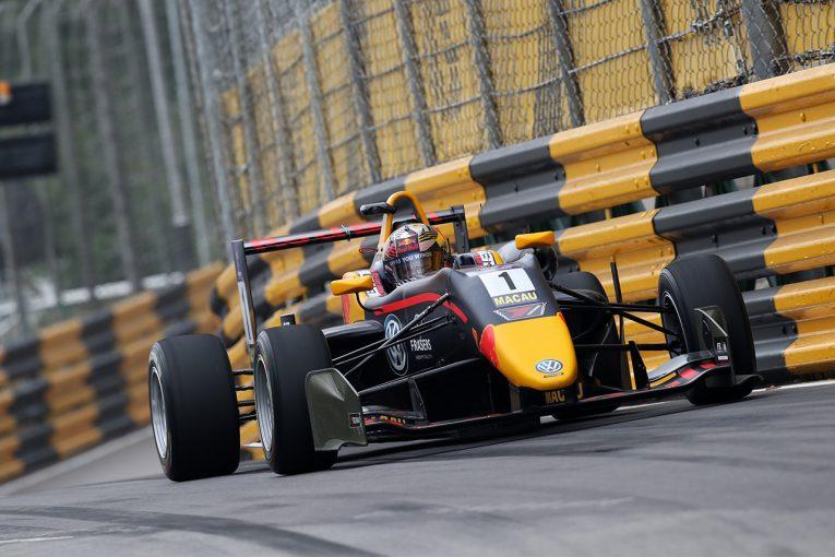 海外レース他 | 第65回マカオグランプリ:FIA F3ワールドカップ初日はティクトゥムが首位。関口5番手