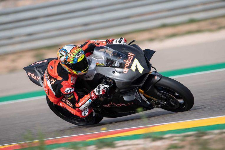 MotoGP | ドゥカティSBK仕様のパニガーレV4 Rが初テスト。デイビス「すぐプッシュしたくなってしまった」