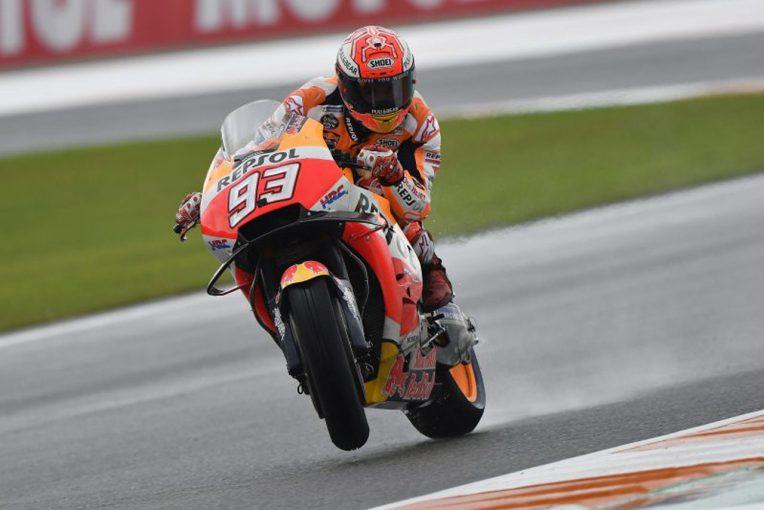MotoGP | MotoGPバレンシアGP初日:マルケスがヘビーウエットで首位。ドゥカティ勢が上位進出