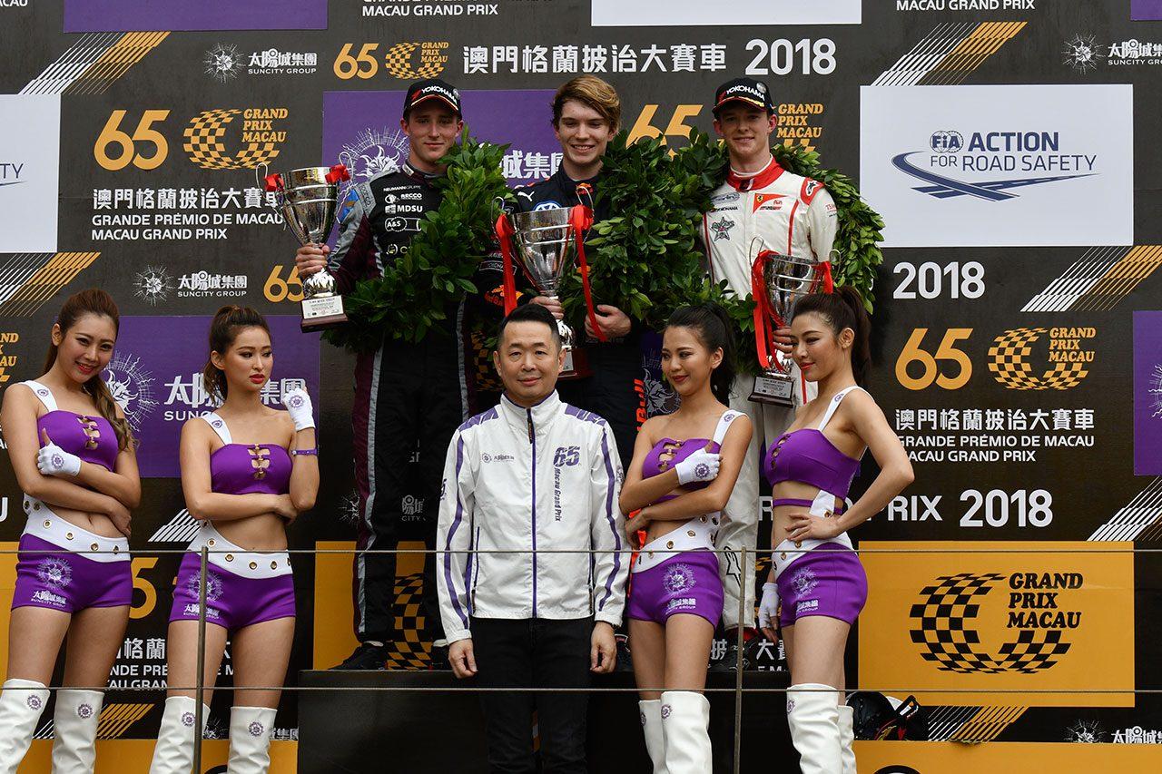 【順位結果】第65回マカオグランプリ FIA F3ワールドカップ 予選レース