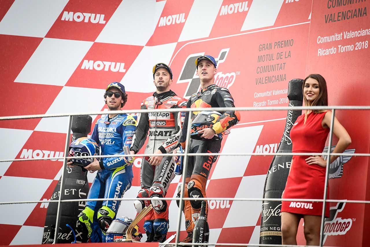 MotoGP:ドヴィツィオーゾ「転倒しなかったことが誇らしい」/バレンシアGP決勝トップ3コメント