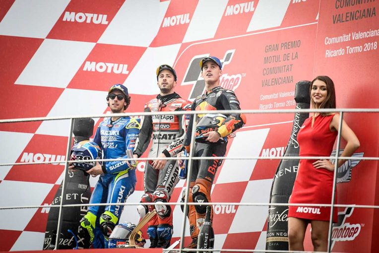 MotoGP | MotoGP:ドヴィツィオーゾ「転倒しなかったことが誇らしい」/バレンシアGP決勝トップ3コメント