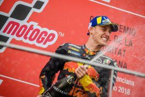 MotoGP最終戦バレンシアGPで3位表彰台を獲得したポル・エスパルガロ