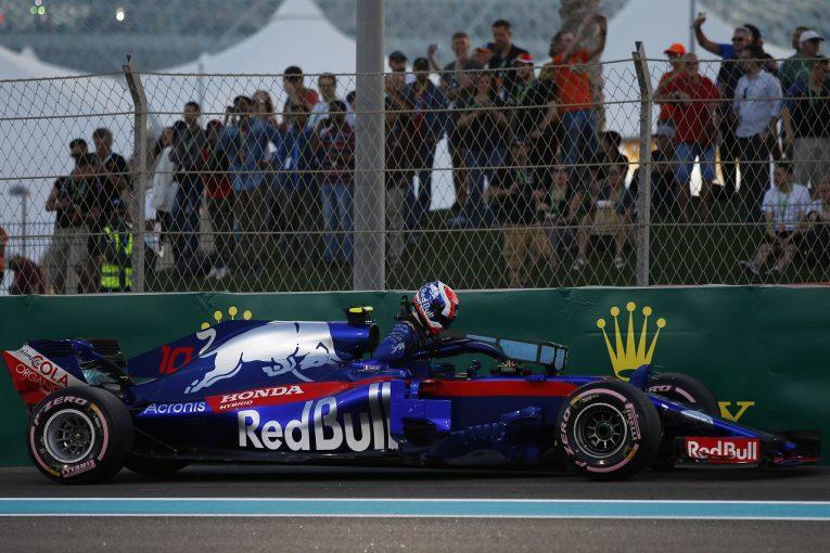 F1   ガスリーがパワーユニットのトラブルでQ1敗退「最終戦の予選が残念な結果に。早急に分析し、決勝への準備を行う」とホンダ田辺TD:F1アブダビGP