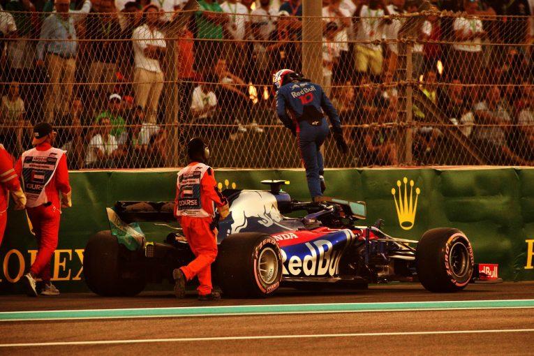 F1 | ガスリー「パワーユニットトラブルがなければ12番手は可能だった。大事な予選をこんな風に終えるなんて」トロロッソ・ホンダ F1アブダビGP