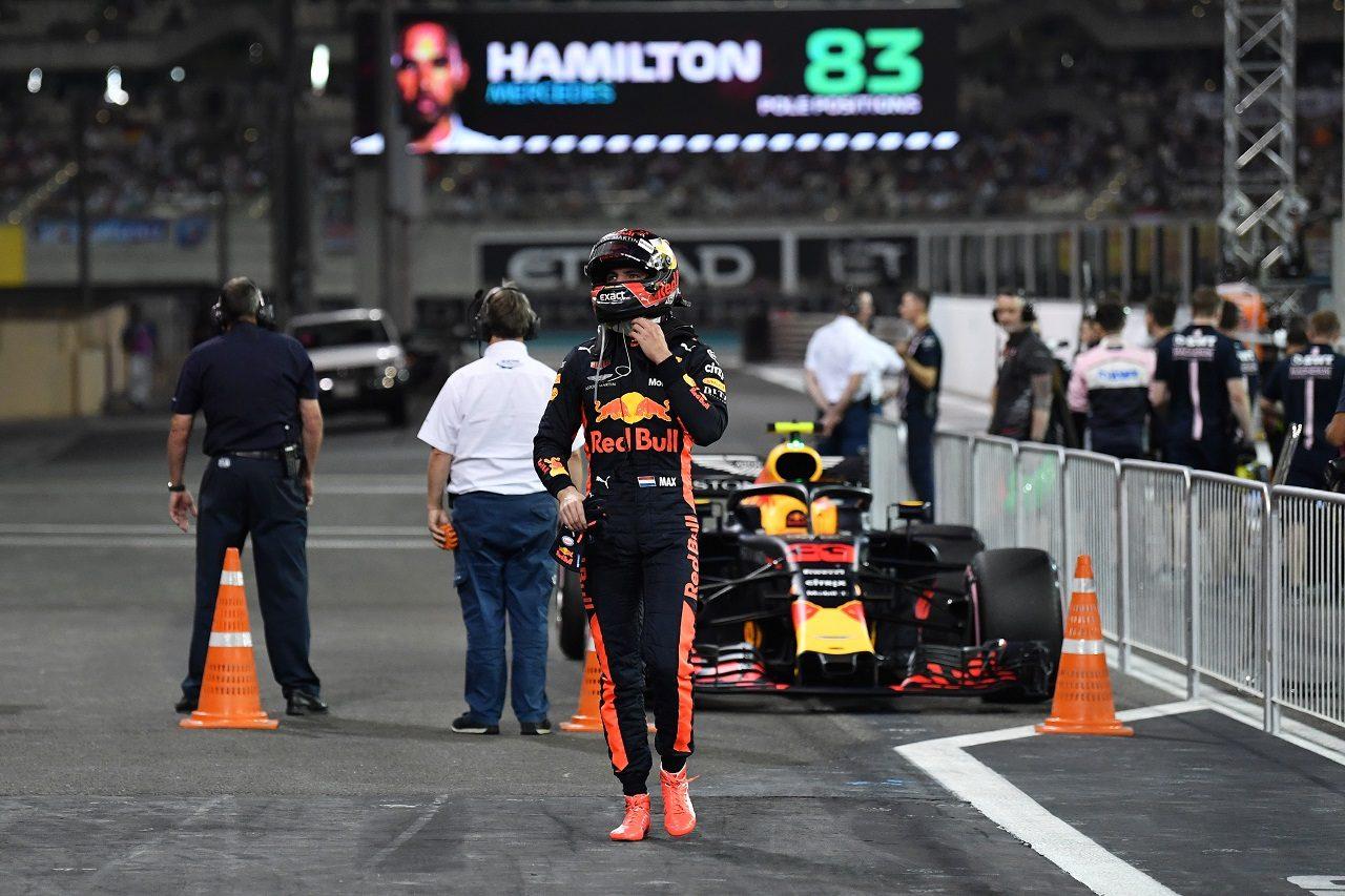 2018年F1第21戦アブダビGP マックス・フェルスタッペン(レッドブル)