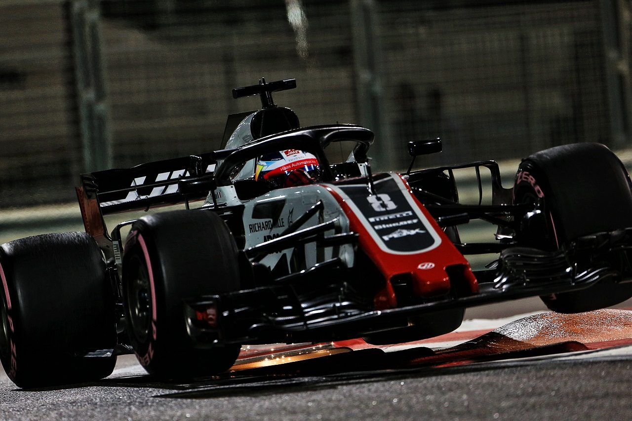2018年F1第21戦アブダビGP ロマン・グロージャン(ハース)