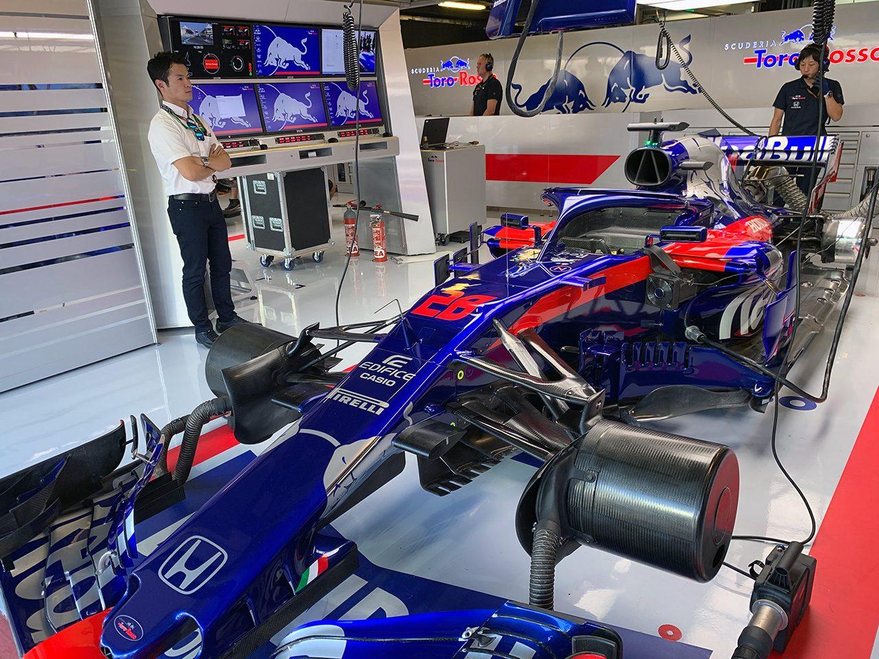 2018年F1第21戦アブダビGPの現地を訪れた山本尚貴