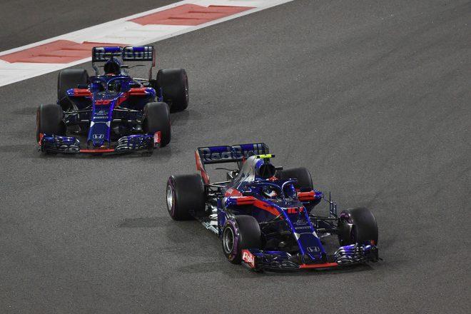 2018年F1第21戦アブダビGP ピエール・ガスリー、ブレンドン・ハートレー
