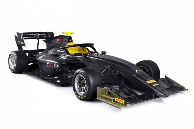 海外レース他 | FIA、アブダビで2019年スタートのFIA F3用シャシーを公開。ハロ、DRSを搭載
