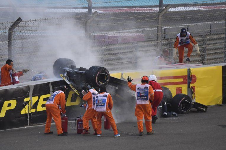 F1   グロージャン、スタート直後にヒュルケンベルグと接触「とにかくニコが無事でよかった」:ハース F1アブダビGP日曜