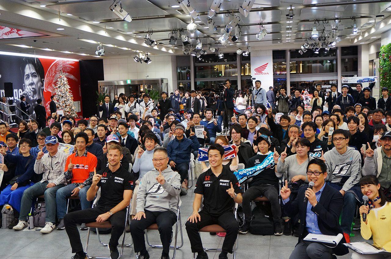 2018 SUPER GT 応援感謝 ファンミーティングに参加した山本尚貴とジェンソン・バトン