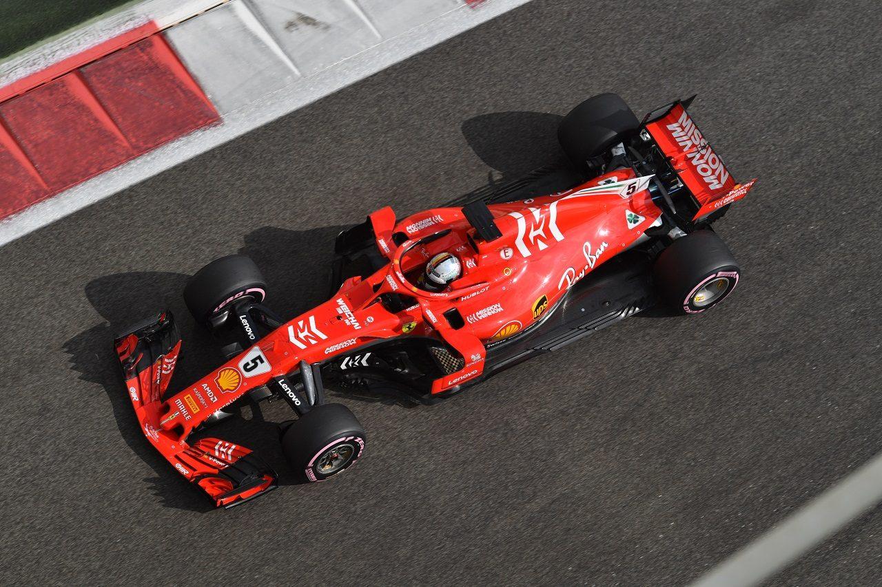 2018年F1アブダビテスト セバスチャン・ベッテル(フェラーリ)