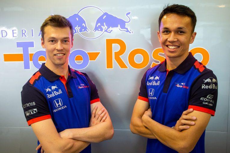 F1 | トロロッソ・ホンダF1、全チーム中最多150周を走行し「いい初日」。新ドライバーのクビアトとアルボンも登場/F1テスト デイ1