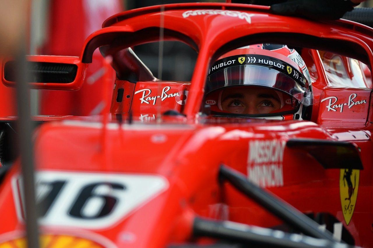 2018年F1アブダビテスト シャルル・ルクレール(フェラーリ)