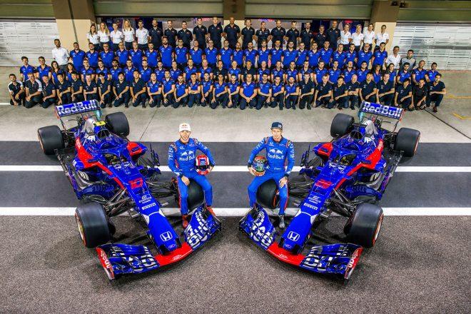 2018年F1第21戦アブダビGP トロロッソ・ホンダの集合写真