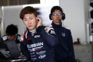鈴鹿サーキットで行われたスーパーフォーミュラの合同・ルーキードライバーテストに参加した牧野任祐