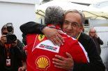 2015年カナダGP フェラーリのマルキオンネ会長とチーム代表アリバベーネ