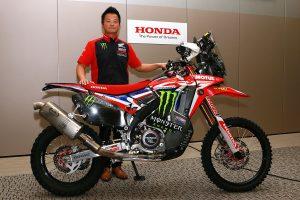 ダカールラリー取材会に出席したモンスター・エナジー・ホンダ・チームの本田太一チーム代表