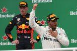 2018年F1ブラジルGP ハミルトン(メルセデス)とフェルスタッペン(レッドブル)