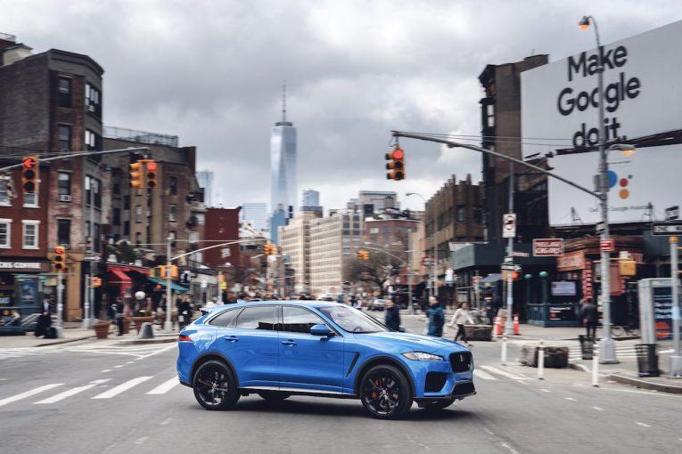 """クルマ   『ジャガーF-PACE』2019年モデル上陸。550PSの高性能版""""SVR""""も追加"""