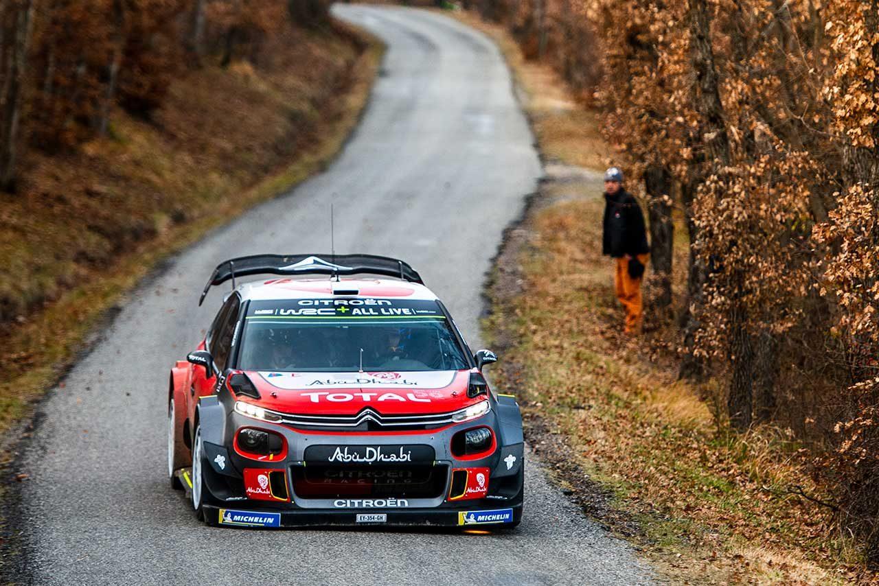 WRC:2019年開幕に向けシトロエンが事前テスト。7連覇目指すオジエがC3 WRCをドライブ