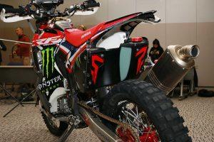 MotoGP | 2019年仕様のホンダCRF450 RALLY(リヤ部)