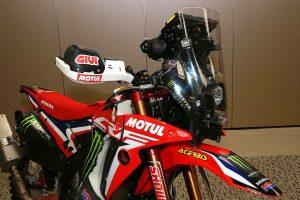 MotoGP | 2019年仕様のホンダCRF450 RALLY(フロント部)