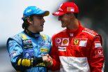 F1 | アロンソ、「特別で感情的な」バトルをしたシューマッハーをF1最大のライバルにあげる