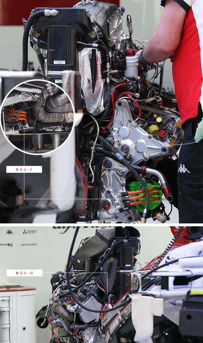 ザウバーのマシンに搭載されたフェラーリ製パワーユニット