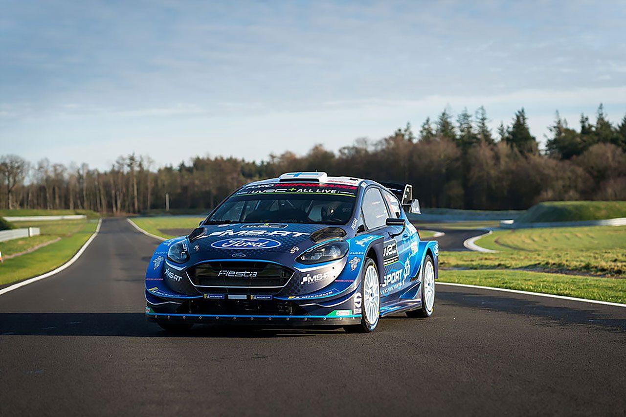 WRC:Mスポーツ・フォードが2019年カラーリング発表。レッドブル撤退に伴いブルーカラーが復活