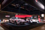 東京オートサロン2019ではA90型スープラとGRスープラ スーパーGTコンセプトが並べて展示されている