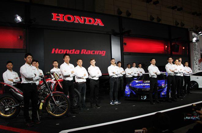 2019年のスーパーGT、そして国内2輪などの参戦体制を東京オートサロン2019の会場で発表したホンダ